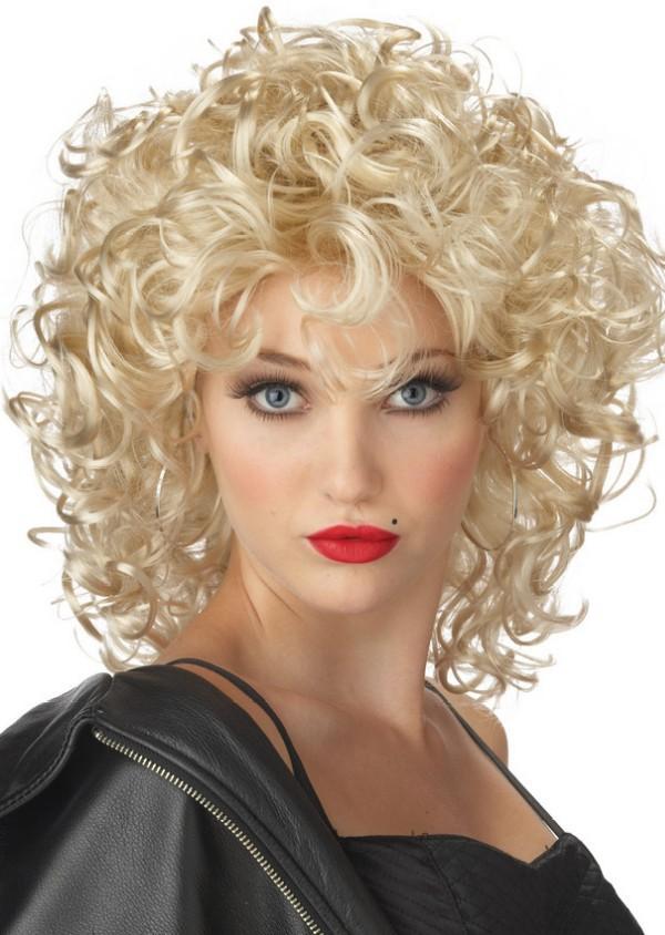 Blonde curly hair on black women